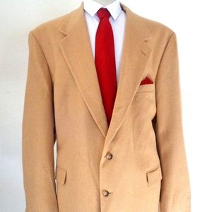 BILL BLASS CAMEL HAIR BLACK LABEL BLAZER SIZE 48L
